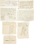 Autographs:Military Figures, Valley Forge, 1777: Document Archive. Seven documents (ten total pages) listing approximately twenty-seven names of Connecti... (Total: 7 Items)