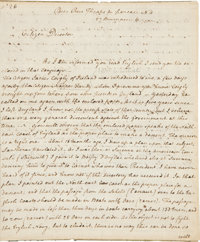 """Thomas Paine Autograph Letter Signed Regarding His Plan for a Descent on England. Two pages, 7.4"""" x 9"""", taking..."""