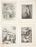 Antiques:Posters & Prints, Forty Fine Illustrations Depicting Scenes From Classic Literature. Featuring vignettes from some of the greatest works of li...