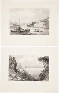 Antiques:Posters & Prints, Pair of 19th Century Illustrations of Ithaca Greece. From Fisher'sDrawing Room Scrap-Book, 1836. London: Fisher & Son, ...(Total: 2 Items)