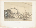 Antiques:Posters & Prints, Rare Suppressed Lithograph of the Public Baths at Simoda FromPerry's Expedition to Japan. From Narrative of theExpediti...