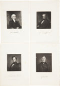 Antiques:Posters & Prints, Eight Steel Engravings of Distinguished American Presidents Fromthe National Portrait Gallery. From The National Portrait...(Total: 8 Original Art Items)