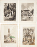 Antiques:Posters & Prints, Four Lithographs Featuring Scenes From Perry's Expedition to Japan.From Narrative of the Expedition of an American Squadr...(Total: 4 Original Art Items)