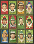 Baseball Cards:Lots, 1911 T205 Hassan Gold Borders Tobacco Collection (12). ...