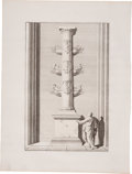 Books:Non-fiction, Bonaventure D'Overbeke. Engraved Illustrations of Ancient RomanSites. Plate mark 10.5 inches x 15.75 inches, sheet size 16 ...(Total: 9 Items)