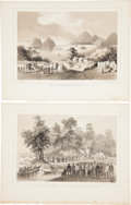Antiques:Posters & Prints, Four Lithographs Featuring Scenes From Perry's Expedition to Japan. From Narrative of the Expedition of an American Squadr... (Total: 4 Original Art Items)