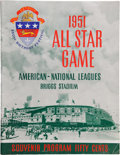 Baseball Collectibles:Programs, 1951 Major League Baseball All Star Game Program....