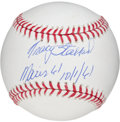 "Autographs:Baseballs, Tracy Stallard ""Roger Maris Inscription"" Single Signed Baseball...."