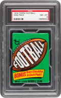 Football Cards:Boxes & Cases, 1974 Topps Football Unopened Wax Pack PSA NM-MT 8....