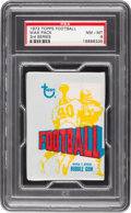 Football Cards:Boxes & Cases, 1972 Topps Football 3rd Series Wax Pack PSA NM-MT 8....