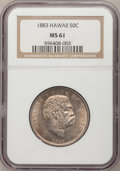Coins of Hawaii, 1883 50C Hawaii Half Dollar MS61 NGC....