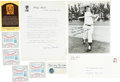 Baseball Collectibles:Others, Mickey Mantle Fan Club Lot, With Signed Letter and Photograph....