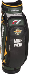 Golf Collectibles:Bags/Flagsticks/Clothing, Mike Weir Match Used, Signed Bag From 2005 PGA Championship....