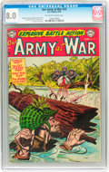 Golden Age (1938-1955):War, Our Army at War #23 (DC, 1954) CGC VF 8.0 Off-white to white pages....