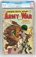 Golden Age (1938-1955):War, Our Army at War #24 (DC, 1954) CGC VF- 7.5 Cream to off-white pages....