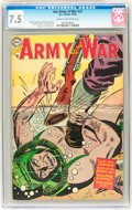 Golden Age (1938-1955):War, Our Army at War #27 (DC, 1954) CGC VF- 7.5 Cream to off-whitepages....