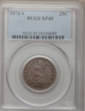 Seated Quarters, 1878-S 25C XF45 PCGS....