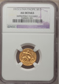 Commemorative Gold, 1915-S $2 1/2 Panama-Pacific Quarter Eagle--Improperly Cleaned--NGCDetails. AU....