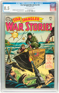 Golden Age (1938-1955):War, Star Spangled War Stories #24 (DC, 1954) CGC VF+ 8.5 Off-white towhite pages....