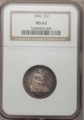 Seated Quarters, 1884 25C MS62 NGC....