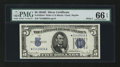 Small Size:Silver Certificates, Fr. 1654* $5 1934D Wide Silver Certificate. PMG Gem Uncirculated 66 EPQ.. ...