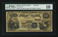 Oxford, NC - $10 1882 Date Back Fr. 545 The First NB Ch. # (S)5885