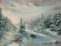 Fine Art - Painting, Russian:Modern (1900-1949), MICHAEL ABRAMOWITCH BALUNIN (Russian, 1875-1937). WinterLandscape. Oil on canvas. 24 x 31-1/2 inches (61.0 x 80.0 cm)....