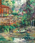 American:Impressionism, WILLIAM SLOCUM DAVENPORT (American, 1868-1938). Red House Nearthe River, circa 1930. Oil on canvas. 32 x 28 inches (81....
