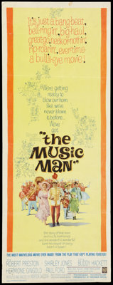 """The Music Man (Warner Brothers, 1962). Insert (14"""" X 36""""). Musical"""