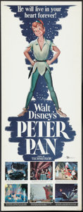 "Movie Posters:Animated, Peter Pan (Buena Vista, R-1958). Insert (14"" X 36""). Animated.. ..."
