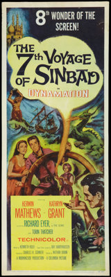 "The 7th Voyage of Sinbad (Columbia, 1958). Insert (14"" X 36""). Fantasy"