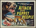 "Movie Posters:Science Fiction, Attack of the Puppet People (American International, 1958). HalfSheet (22"" X 28""). Science Fiction.. ..."