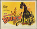 "Movie Posters:Science Fiction, The Giant Behemoth (Allied Artists, 1959). Half Sheet (22"" X 28"").Science Fiction.. ..."