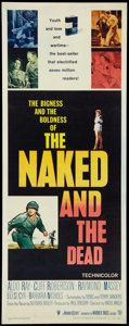 """Movie Posters:War, The Naked and The Dead Lot (RKO, 1958). Inserts (3) (14"""" X 36"""").War.. ... (Total: 3 Items)"""