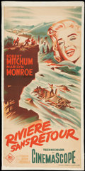 "Movie Posters:Adventure, River of No Return (20th Century Fox, 1954). French Poster (14.75""X 30.5""). Adventure.. ..."