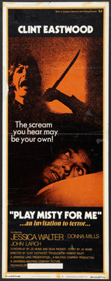 """Play Misty For Me Lot (Universal, 1971). Inserts (2) (14"""" X 36""""). Thriller. ... (Total: 2 Items)"""