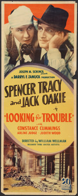 """Looking for Trouble (United Artists, 1934). Insert (14"""" X 36""""). Crime"""