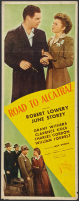 "Road To Alcatraz (Republic, 1945). Insert (14"" X 36""). Mystery"