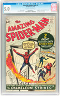 Silver Age (1956-1969):Superhero, The Amazing Spider-Man #1 (Marvel, 1963) CGC VG/FN 5.0 Cream to off-white pages....