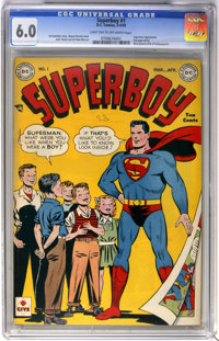 Superboy #1 (DC, 1949) CGC FN 6.0 Light tan to off-white pages