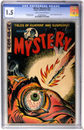 Golden Age (1938-1955):Horror, Mister Mystery #12 (Aragon Magazines, Inc., 1953) CGC FR/GD 1.5Cream to off-white pages....