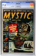 Golden Age (1938-1955):Horror, Mystic #8 (Atlas, 1952) CGC VF- 7.5 Cream to off-white pages....