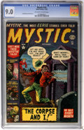 Golden Age (1938-1955):Horror, Mystic #14 (Atlas, 1952) CGC VF/NM 9.0 Off-white to white pages....