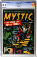 Golden Age (1938-1955):Horror, Mystic #20 (Atlas, 1953) CGC VF 8.0 Cream to off-white pages....