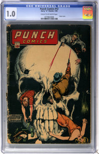Punch Comics #12 (Chesler, 1945) CGC FR 1.0 Cream to off-white pages