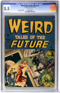 Golden Age (1938-1955):Horror, Weird Tales of the Future #1 (Aragon, 1952) CGC FN- 5.5 Off-whitepages....
