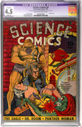 Golden Age (1938-1955):Science Fiction, Science Comics #4 (Fox, 1940) CGC Apparent VG+ 4.5 Slight (A) Creamto off-white pages....