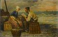 Fine Art - Painting, European:Antique  (Pre 1900), CONTINENTAL SCHOOL (Nineteenth Century). Couple on theDocks. Oil on canvas. 20in. x 30in.. Signed at lower left I.Ma... (Total: 1 Item)