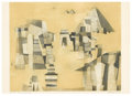 Prints:European Modern, RUDOLF KUGLER (German, b. 1921). Tempelfragment, 1954. Coloretching. 16in. x 19in.. Signed and titled in pencil: R. K...(Total: 1 Item)
