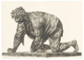 Prints:American, JOSEPH HIRSCH (American, 1910-1981). Crawling Man, 1963.Lithograph. 16-1/2in. x 23in.. Signed in pencil at lower center...(Total: 1 Item)